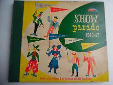 "Show Parade 1946-47 Record Album Rainbow Records Clinton 3 Lot 78 Rpm 10"" 198-4F"