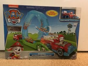 PAW Patrol True Metal Ultimate Fire Rescue Track Set with Exclusive Marshall New