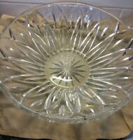 Gorham Lady Anne Crystal Salad Fruit Centerpiece Bowl 13 3/4  Germany Hand Cut