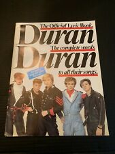 1982 Duran Duran The Official Lyric Book With Poster