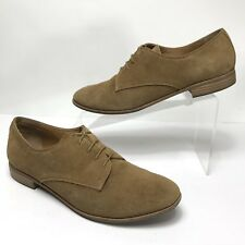 G.H. Bass Womens Shoe 9 Ella Brown Tan Leather Suede Oxfords Lace Career Casual