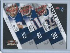 "2009 THREADS ""TRIPLE THREAT"" TOM BRADY #4"