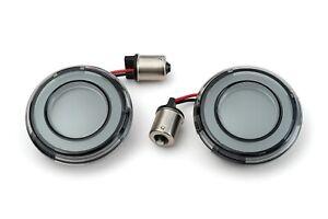 Kuryakyn Tracer Red LED Rear Turn Signal Conversion Kit 1156 Smoke Bullet