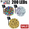 200 LED Solar String Fairy Lights 8 Mode Waterproof Outdoor Party Decoration