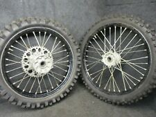 "Honda CR250 2002-2007 CRF450 2002-2012 Used silve/black 19"" + 21"" wheels CR4410"