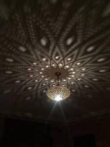 Ceiling Lights Brass Moroccan Suspension Hanging Vtg Ceiling Chandelier