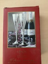 Lenox Kirk Stieff Collection Silver Toasting Champagne Flutes Millennium Edition