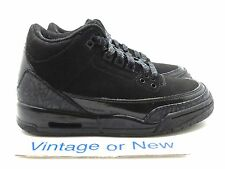 sports shoes 10800 56777 Nike Air Jordan III 3 Black Cat Retro GS 2007 sz 4Y