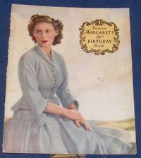 PRINCESS MARGARET'S 19TH BIRTHDAY BOOK
