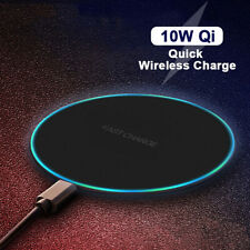 10W Qi Quick Wireless Charge Fast Charging Pad For iPhone XS Max X 8Plus Samsung