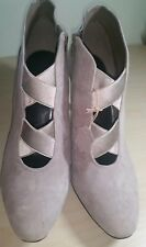 M&S COLLECTION WIDER FIT GREY SUEDE STILETTO LADIES ANKLE BOOTS UK8/EUR42 BNWT