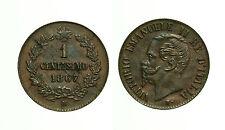pcc1177_4) Regno d Italia Vittorio Emanuele II  Centesimi 1 Valore 1867
