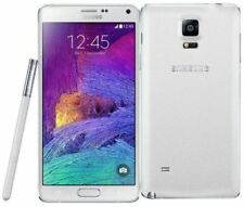 "NUOVO SAMSUNG GALAXY NOTE 4 SM-N910F 5.7"" BIANCA 3GB 32GB 16MP POSTERIORE MOBILE"