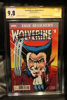 True Believers Wolverine #1 CGC 9.8 SS Signed Frank Miller Limited Series Marvel