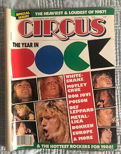 CIRCUS MAGAZINE DECEMBER 31,1987 MOTLEY CRUE BON JOVI OZZY POISON KISS METALLICA