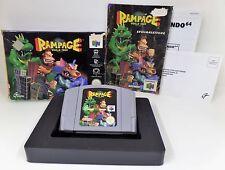 Nintendo 64-n64 jeu-rampage world tour + guide + Inlay + OVP
