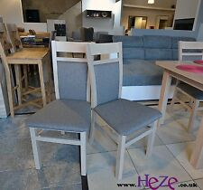 2 wooden chairs, strong and solid, oak sonoma colour Kam02