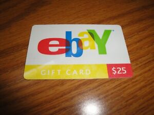 Unused Vintage Ebay Gift Cards 25 Edition Lettering $0 NO CASH VALUE PHOTOS L@@K