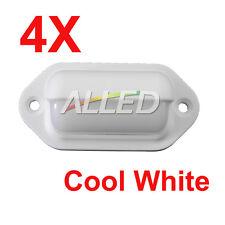 4X12V Cool White Waterproof White Shell LED Courtesy Light Cabin/Boat/Stair/Step