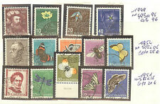 TIMBRES SUISSE PRO JUVENTUTE PAPILLONS OBLITERES ANNEE 1949 A 51 COTE 57 €