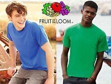 STOCK 3 pezzi FRUIT OF THE LOOM maglietta UOMO gr 145 T-shirt SPEDIZIONE GRATIS