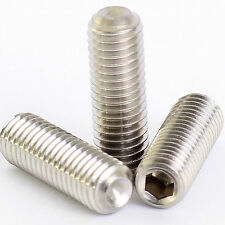 5mm M5 A2 STAINLESS STEEL GRUB SCREWS CUP POINT HEX SOCKET SET SCREW DIN 916
