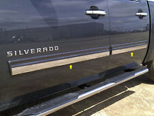 2009-2013 Chevy Silverado - CREW CAB - Chrome SS Molding Overlay (4 PCS Set)