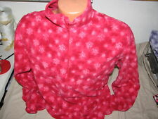 large adult pullover solid red turtlefur snowflakes