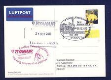 44388) Irland Ryanair FF DD/Weeze - Madrid 31.10.10, Aufl.Sindelfingen