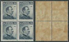 1911 REGNO EFFIGIE 15 CENT QUARTINA MNH ** - Y147