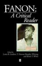 Fanon: A Critical Reader (Blackwell Critical Reader) by