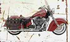 Indian Chief Vintage 2002 Aged Vintage SIGN A4 Retro