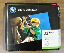 HP 02 Ink Cartridges Photo Value Pack  Brand New In The Sealed BOX  EXP. 11/2019