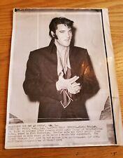 Elvis Presley Vintage Advance for AMS AUG 3, 1969 Las Vegas.  Stamped
