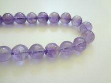 12mm Round Natural Lavender Amethyst Semi Precious Gemstone Beads - Half Strand