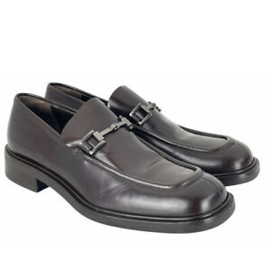GUCCI Ladies Brown Leather Silver Horsebit Loafers UK 5.5 | EUR 38.5 | US 7.5 B