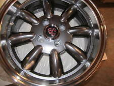 FIAT 500, ABARTH, MONZA WHEELS, GUNMETAL, SET OF 4,  15X6.5