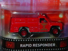 Hot Wheels RAPID RESPONDER EMERGENCY VEHICLE REAL RIDERS MOVIE CAR -Red, MIP