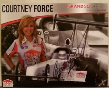 SIGNED! 2008 COURTNEY FORCE BRAND SOURCE TOP ALCOHOL DRAGSTER Free Shipping
