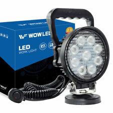 Portable Magnetic Base Round 27w LED Work Light Floodlight Truck Car Lamp 4x4