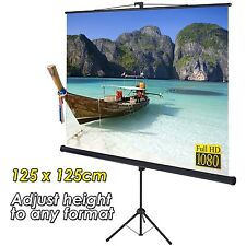 Tripod Projection Screen Adjustable Format - Home Cinema Projector Screen 125cm