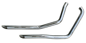 CHROME EXHAUST DRAG PIPES HARLEY FXR SUPER GLIDE FXRS LOW RIDER FXRT FXRP 84-99