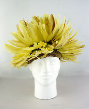 Vintage feather juju hat headdress Cameroon Africa - adult