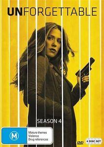 Unforgettable : Season 4 (DVD, 4-Disc) Brand New / Sealed - Region 4