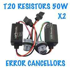 2x T20 CAR DRL SIDELIGHTS BRAKE RESISTORS WARNING CANCELLERS T20 BULBS 50W