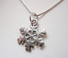 Very Small Snowflake Necklace 925 Sterling Silver Corona Sun Jewelry