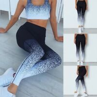 Womens Yoga Leggings Fitness Sports Gym Exercise Running Jogging Pants Trousers