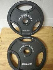 """2 Olympic 2"""" Pair 35lb Weight Plates 70 pounds- Brand New Barbell! FITNESS GEAR"""
