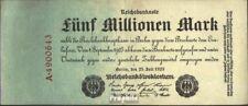 Empire Allemand Rosenbg: 94 usé (III) 1923 5 Millions Mark
