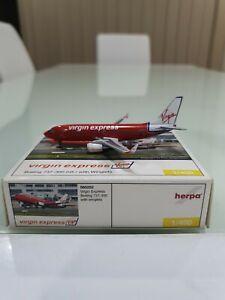 HERPA 1/400 Virgin Express Boeing 737-300 with Winglets OO-VEX Diecast